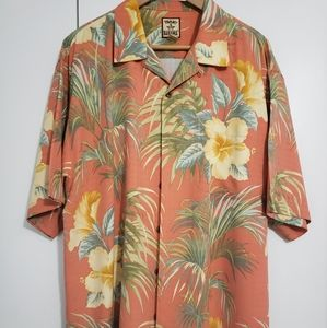 Tommy Bahama Mens tropical print shirt. XL